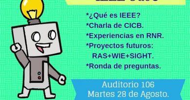 Charla: Rama IEEE UdeC presenta nuevos capítulos y grupos de afinidad!
